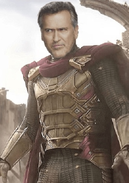 Bruce Campbell as Quentin Beck in Spider-Man 4
