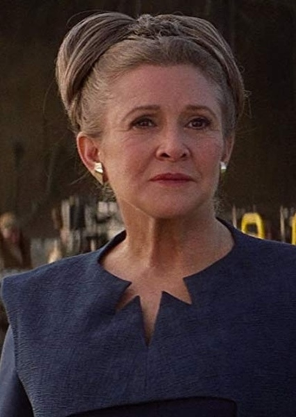 Carrie Fisher as Senator Leia Organa in George Lucas' Star Wars Sequel Trilogy