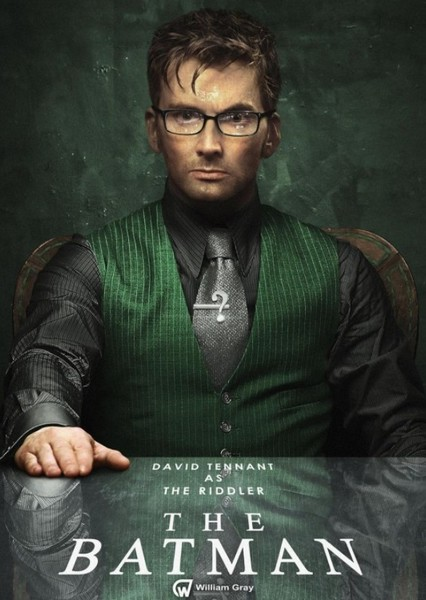 David Tennant as Edward Nygma (The Riddler) in All Superheroes and Villains (DC, Marvel, & Dark Horse Comics)
