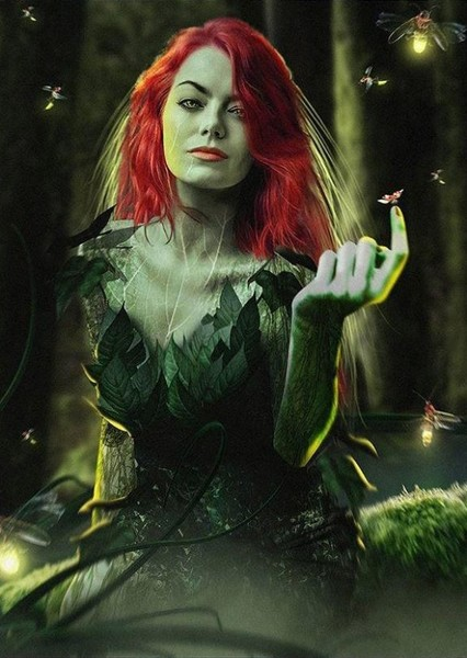 Emma Stone as Poison Ivy in Harley Quinn