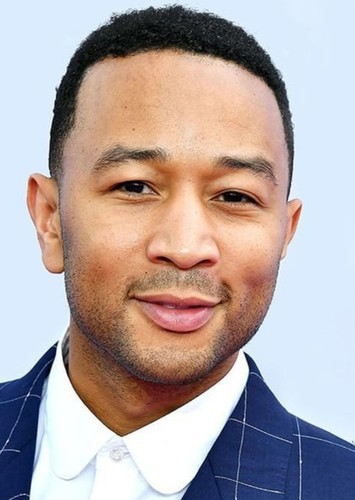 John Legend as Steve in Minecraft : The Musical