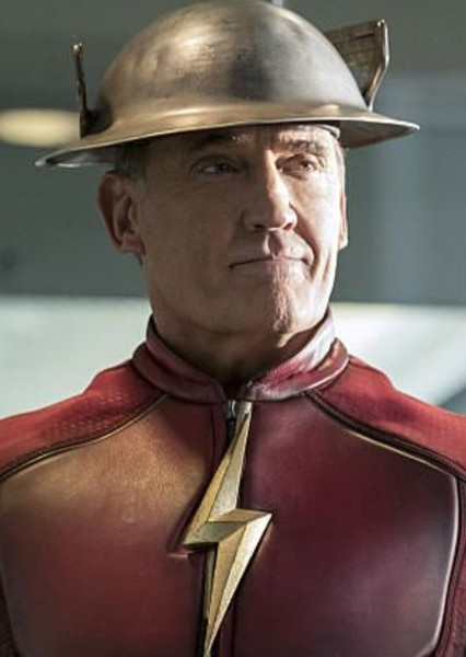 John Wesley Shipp as Flash in The Flash Family and His Rouge Gallary