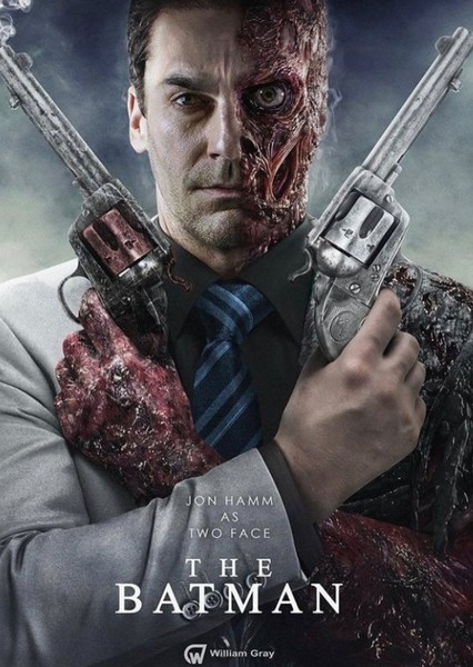 Jon Hamm as Two-Face in The Perfect Batman Movie
