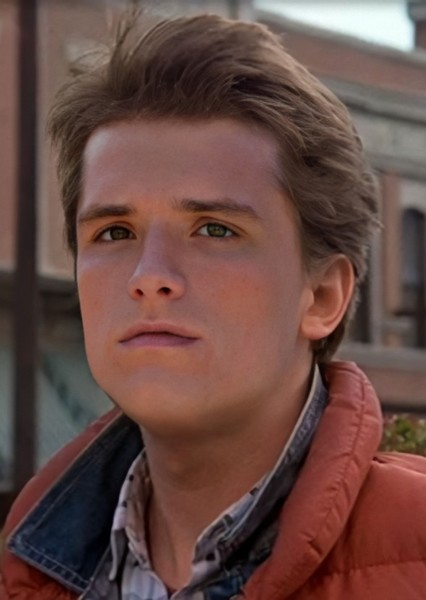 Josh Hutcherson as Marty McFly in Back to the Future 2020