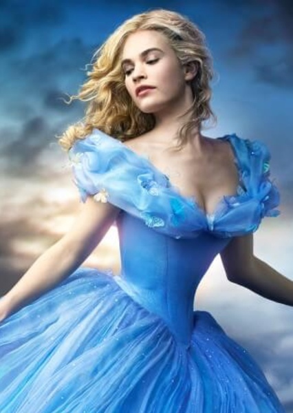 Lily James as Cinderella in Live Action Disney Princess and Princes