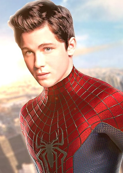 Logan Lerman as Spider-man in Captain  America & Peggy