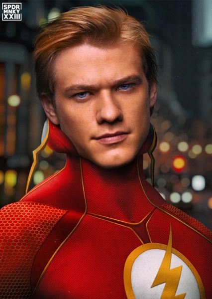 Lucas Till as Flash DCEU in  DC BATMAN MULTIVERSE AND JUSTICE LEAGUE
