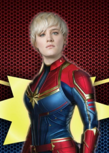 Mackenzie Davis as Carol Danvers in Captain Wonder
