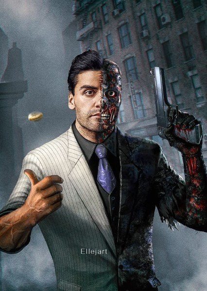 Oscar Isaac as Harvey Dent (Two-Face) in All Superheroes and Villains (DC, Marvel, & Dark Horse Comics)