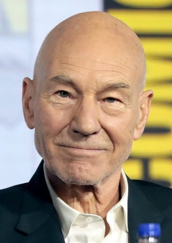 Patrick Stewart as Captain Pandora in Space Pirates