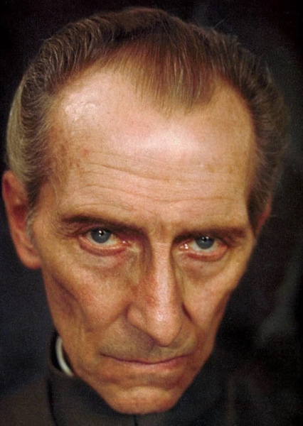 Peter Cushing as Abraham Van Helsing in The Perfect Dracula Movie