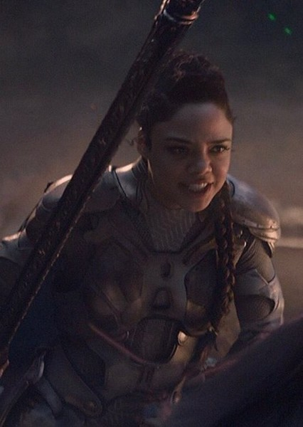 Tessa Thompson as Brunnhilde in Thor : Realms of Asgard