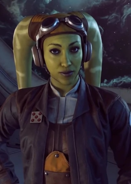 Vanessa Marshall as Hera Syndulla in Star Wars: Alphabet Squadron Trilogy