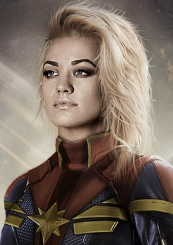 Yvonne Strahovski as Captain Marvel in Alternate MCU