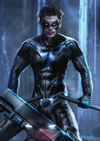 Zac Efron as Nightwing in Zack Snyder's The Batman