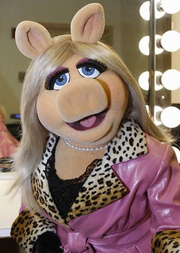 Miss Piggy as Princess Leia Organa in The Muppets in Star Wars