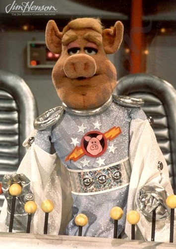 Link Hogthrob as Han Solo in The Muppets in Star Wars