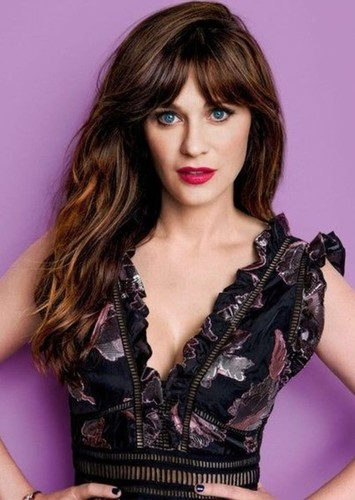 Zooey Deschanel as Janine Melnitz in Ghostbusters 2 ( Remake With Male Cast )