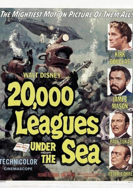 20,000 Leagues Under the Sea Fan Casting Poster