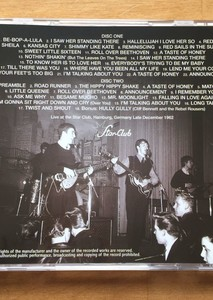 The Beatles:  Live! at the Star-Club in Hamburg, Germany; 1962