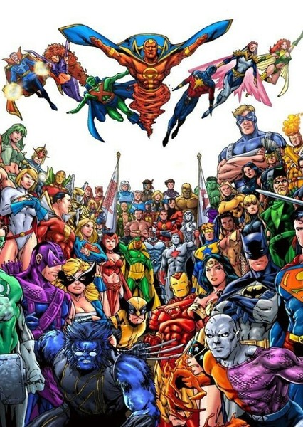 All Superheroes and Villains (DC, Marvel, & Dark Horse Comics) Fan Casting Poster
