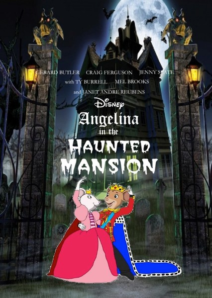 Angelina in the Haunted Mansion Fan Casting Poster