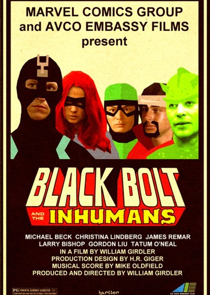 Black Bolt and the Inhumans (1978) Fan Casting Poster