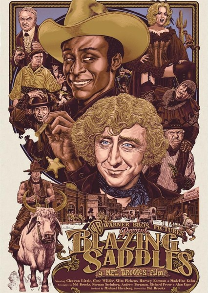 Blazing Saddles remake Fan Casting Poster