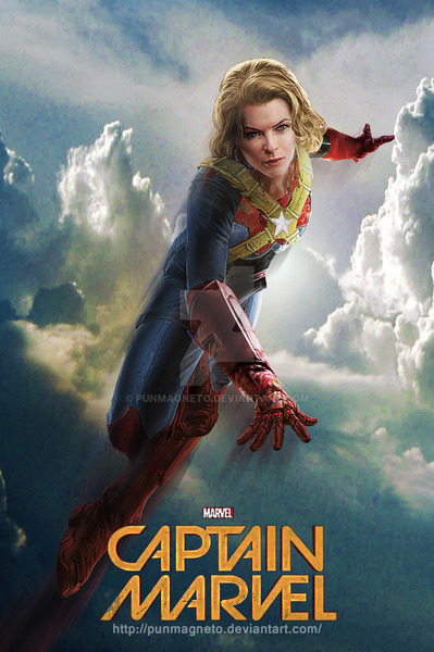 Captain Marvel Fan Casting Poster