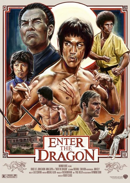 Enter the Dragon Fan Casting Poster