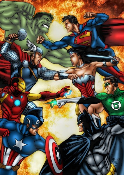 Justice League vs The Avengers Fan Casting Poster