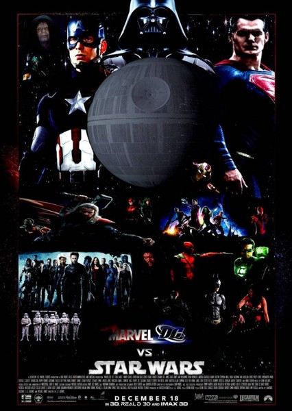 Marvel vs DC vs Star Wars Fan Casting Poster