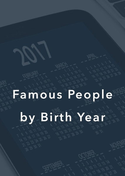 Most Famous people by birth year Fan Casting Poster