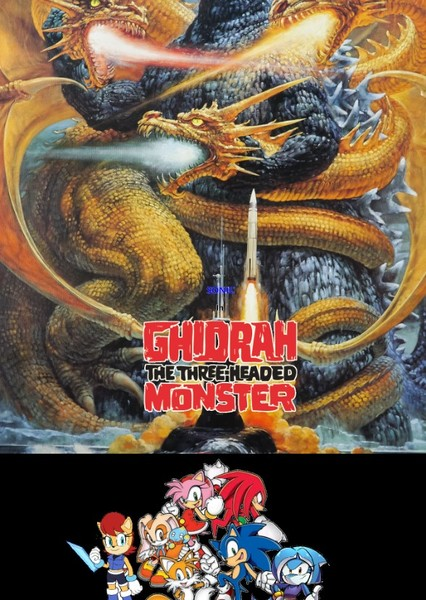 Sonic in Ghidorah the Three Headed Monster Fan Casting Poster