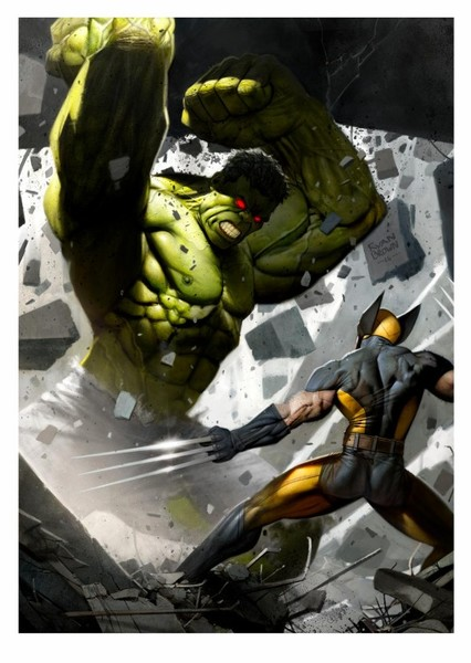The Incredible Hulk vs The Wolverine