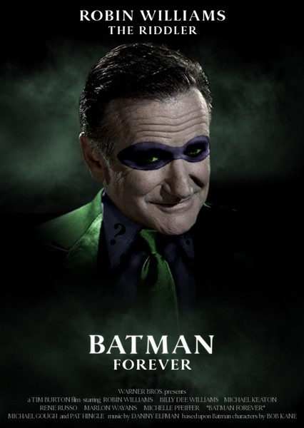 Batman Forever and Batman and Robin Fan Casting Poster