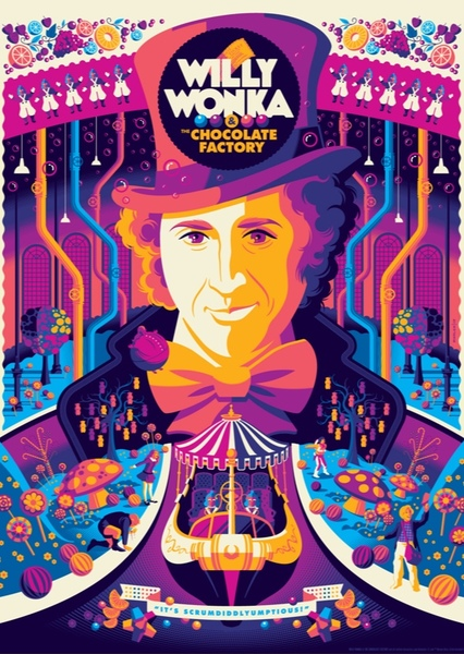 Willy Wonka & the Chocolate Factory Fan Casting Poster